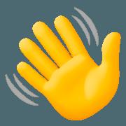Hände smiley winkende 👋 Winkende